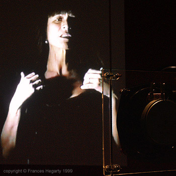 Frances Hegarty 'Auto Portrait #2' video installation 1999
